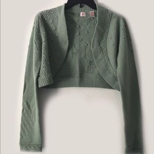 Anthropology Bolero wool blend sweater
